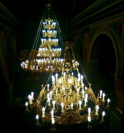 Паникадило 3 яруса 54 свечи с хоросом на 32 свечи